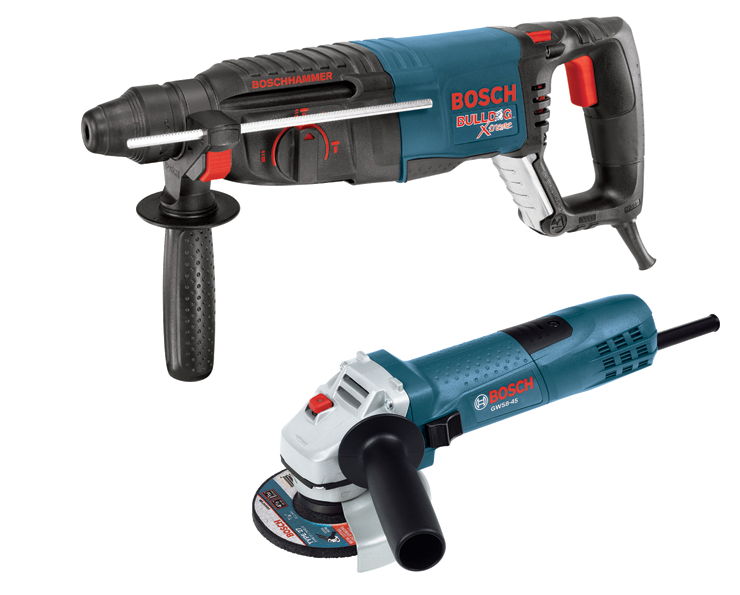 11255VSR-GWS8 1 In. SDS-plus® Bulldog™ Xtreme Rotary Hammer with 4.5 In. Small Angle Grinder