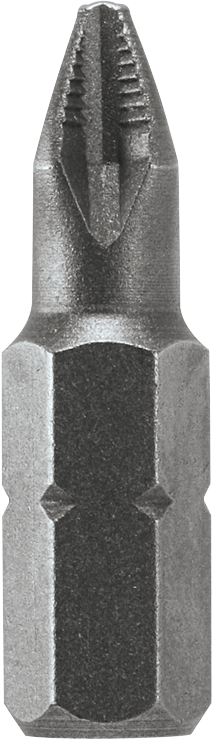 46005 1 In. Extra Hard Phillips Insert Bit, P2 Ribbed Point
