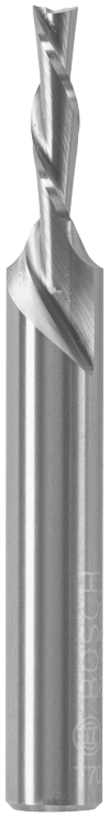 85900MC 1/8 In. x 1/2 In. Solid Carbide Double-Flute Down Cut Spiral Router Bit