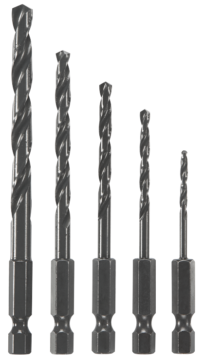BL5IM 5 Pc. Impact Tough™ Black Oxide Drill Bit Set