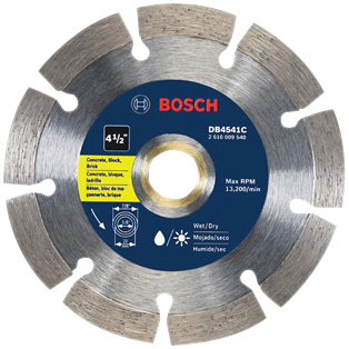 DB4541C 4-1/2 In. Premium Segmented Rim Diamond Blade for Universal Rough Cuts