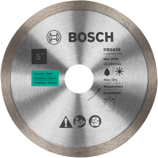 DB543S 5 In. Standard Continuous Rim Diamond Blade for Clean Cuts
