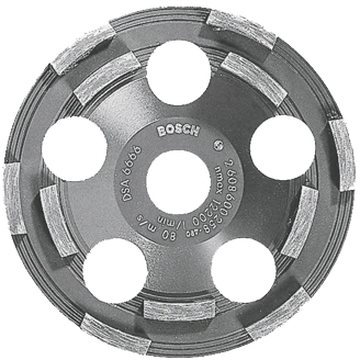 DC500 5 In. Double Row Segmented Diamond Cup Wheel for Coating Removal