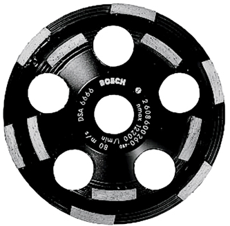 DC520 5 In. Double Row Segmented Diamond Cup Wheel for Abrasive Materials