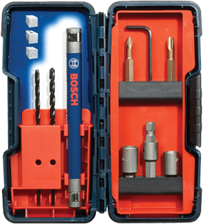 TC900 9 pc. Flat Shank Drill Bit Set