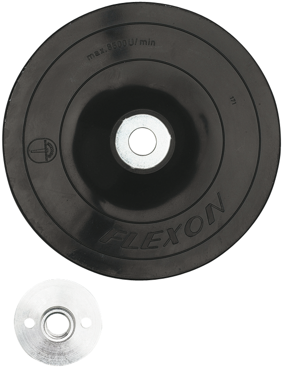 MG0450 4-1/2 In. Angle Grinder Accessory Rubber Backing Pad with Lock Nut
