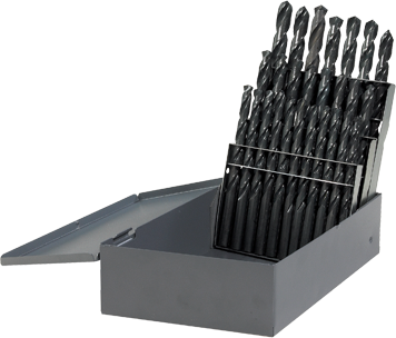 BL0026 26 pc. Metal Index Black Oxide Drill Bit Set