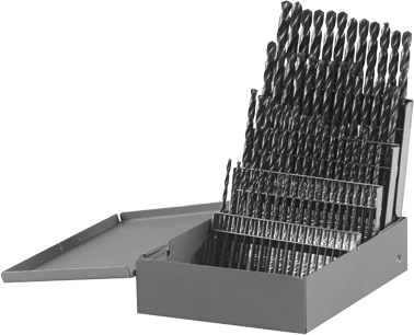 BL0060 60 pc. Metal Index Black Oxide Drill Bit Set