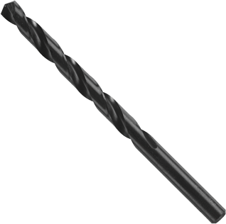 BL2166 39/64 In. x 6 In. Fractional Reduced Shank Black Oxide Drill Bit