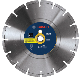 DB1241H 12 In. Premium Segmented Rim Diamond Blade for Universal Rough Cuts