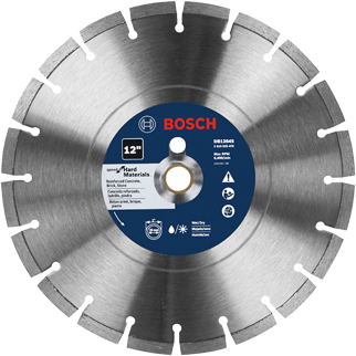DB1264S 12 In. Standard Segmented Rim Diamond Blade for Hard Materials