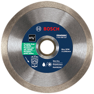 DB4566C 4-1/2 In. Premium Plus Continuous Rim Diamond Blade for Clean Cuts