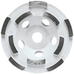 DC410H 4 In. Double Row Segmented Diamond Cup Wheel