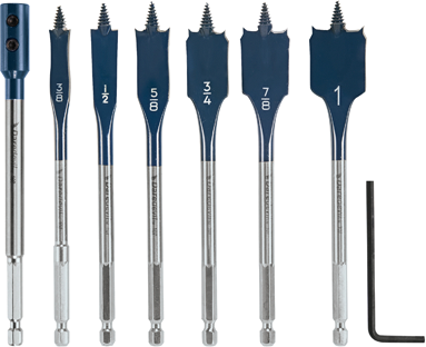 DSB5005 6 pc. Daredevil™ Standard Spade Bit Set Includes Extension