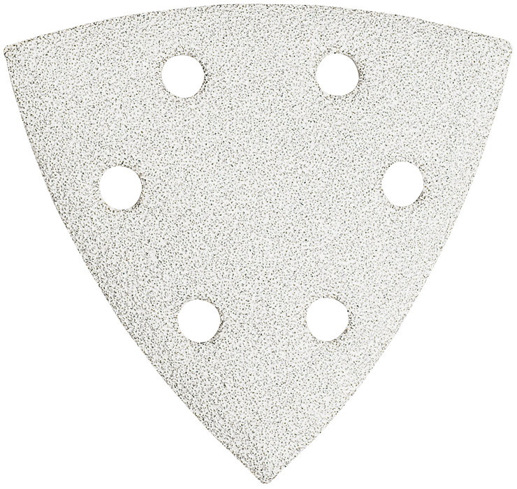SDTW082 3-1/2 In. 80 Grit 25 pc. White Detail Sander Abrasive Triangles for Paint