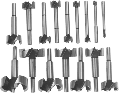 FB1600 16 pc. Wood Forstner Bit Set