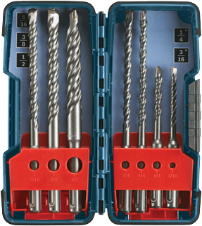 HCK001 7 pc. SDS-plus® Bulldog™ Rotary Hammer Bit Set