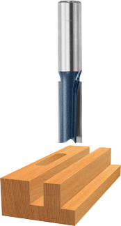 85251M 1/2 In. x 2 In. Carbide-Tipped Double-Flute Straight Router Bit