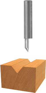 85284 41° x 1/4 In. Solid Carbide V-Groove Bit