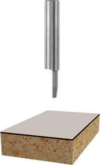85288 10° x 3/8 In. Solid Carbide 1-Flute Flush/Bevel Trim Bit