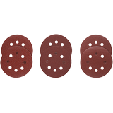 SR5R000 6 pc. Assortment 5 In. 8 Hole Hook-And-Loop Sanding Discs