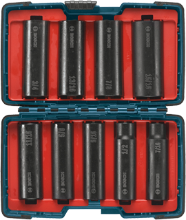 27286 9 pc. Impact Tough Socket Set for 1/2 In. Drive