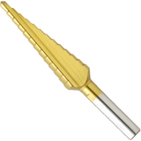 SDT9 13/16 In. to 1-3/8 In. Titanium-Coated Step Drill Bit