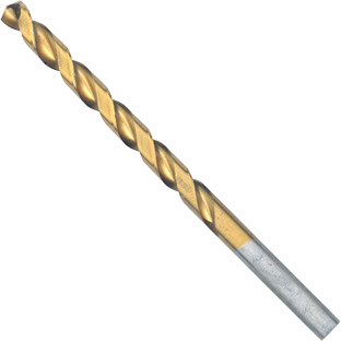 TI2143 1/4 In. x 4 In. Titanium-Coated Drill Bit