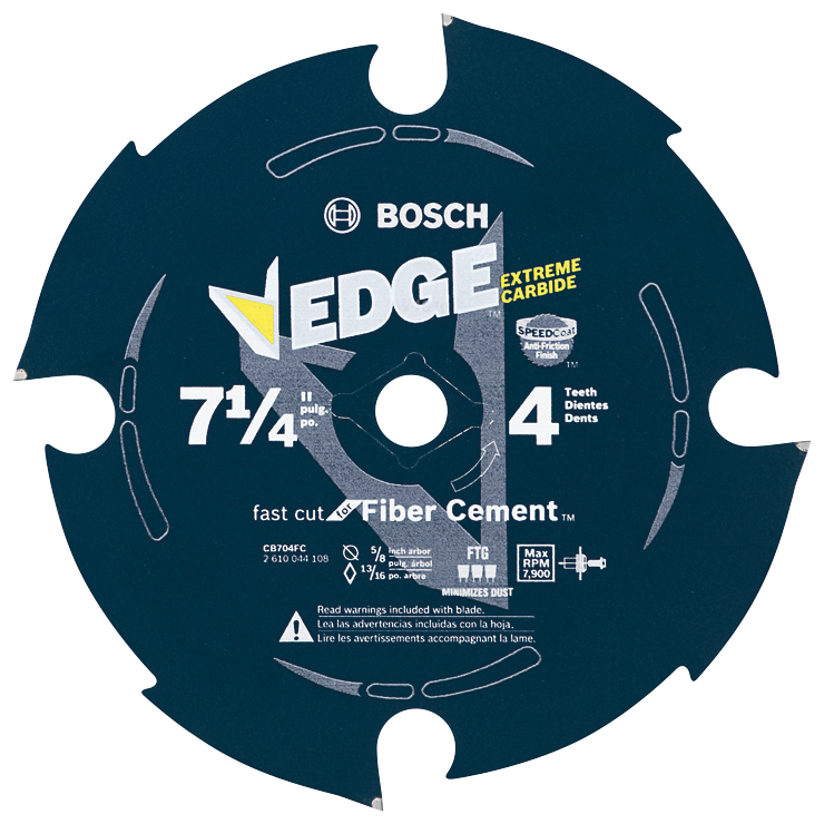 CB704FC 7-1/4 In. 4 Tooth Edge Diamond-Impregnated Carbide-Tipped Saw Blade
