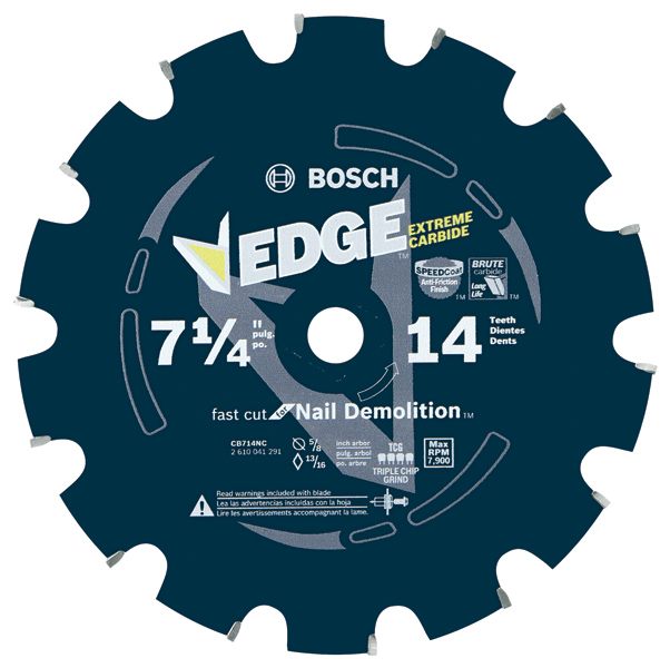 Edge Nail Demolition Circular Saw Blades