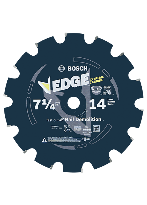 CB714NC 7-1/4 In. 14 Tooth Edge Circular Saw Blade for Nail Demolition