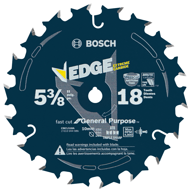 CBCL518A 5-3/8 In. 18 Tooth Edge Circular Saw Blade for Fast Cuts