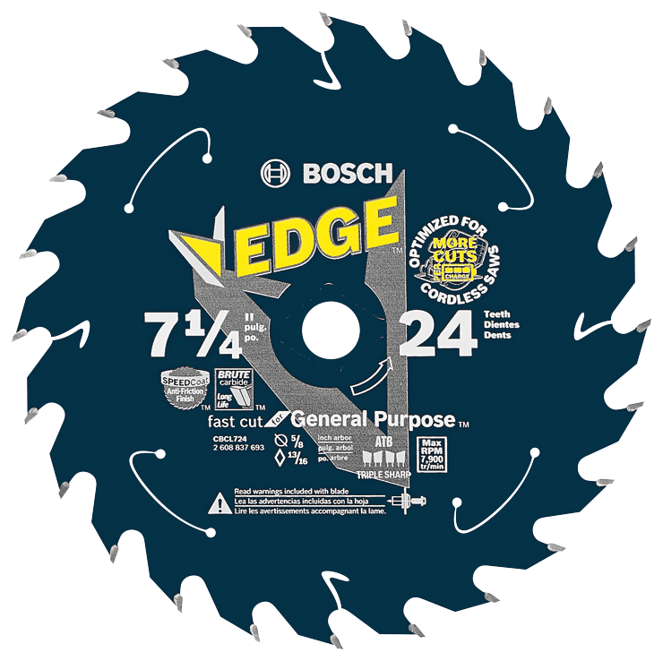CBCL724 7-1/4 In. 24 Tooth Edge Cordless Circular Saw Blade for General Purpose
