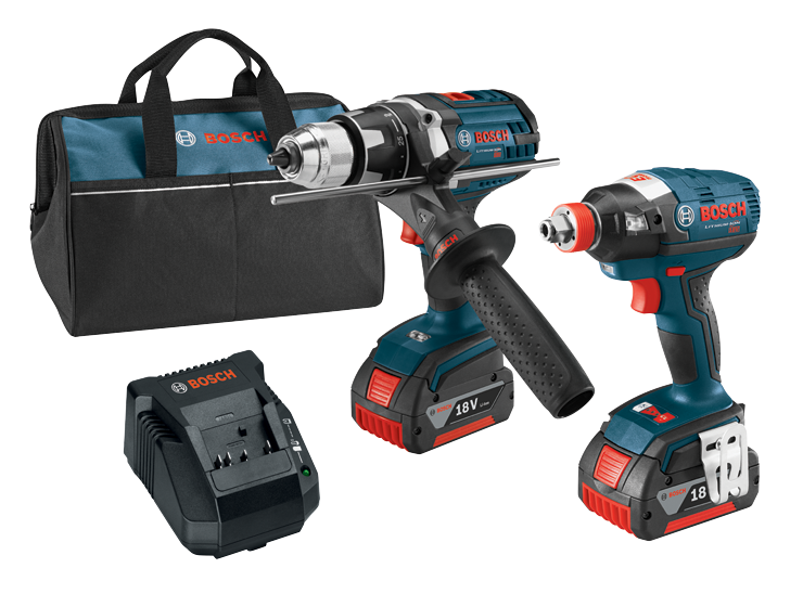 CLPK223-181 18V 2-Tool Combo Kit with 1/4 In. and 1/2 In. Two-In-One Bit/Socket Impact Driver and Brute Tough 1/2 In. Drill/Driver
