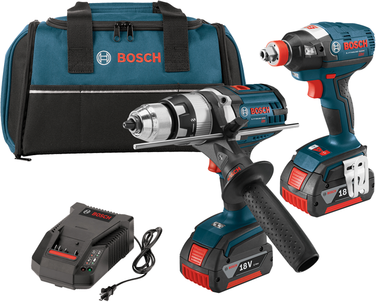 CLPK224-181 18V 2-Tool Combo Kit with EC Brushless 1/4 In. and 1/2 In. Socket-Ready Impact Driver and Brute Tough™ 1/2 In. Hammer Drill/Driver