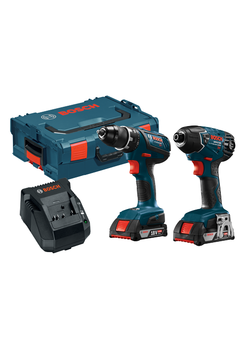CLPK232A-181L 18V 2-Tool Combo Kit with Compact Tough 1/2 In. Drill/Driver, 1/4 In. Hex Impact Driver, (2) 2.0 Ah SlimPack Batteries and L-Boxx Carrying Case