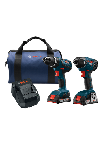 CLPK232A-181 18V 2-Tool Combo Kit with Compact Tough™ 1/2 In. Drill/Driver and 1/4 In. Hex Impact Driver