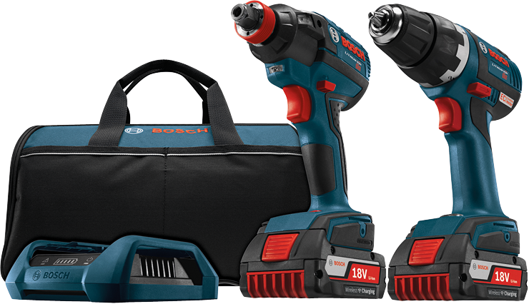 CLPK233WC-02 18 V 2-Tool Kit with 1/4 In. and 1/2 In. Socket-Ready Impact Driver, 1/2 In. Drill/Driver and Wireless Charging Kit