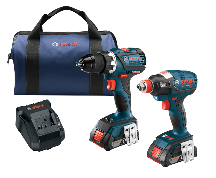 CLPK238-181 18V 2-Tool Combo Kit with 1/4 In. and 1/2 In. Two-In-One Bit/Socket Impact Driver, Compact Tough 1/2 In. Drill/Driver and (2) 2.0 Ah SlimPack Batteries
