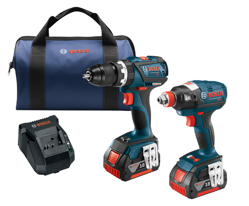 CLPK251-181 18 V 2-Tool Combo Kit with EC Brushless 1/4 In. and 1/2 In. Socket-Ready Impact Driver and EC Brushless Compact Tough™ 1/2 In. Hammer Drill/Driver