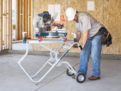T4b Gravity Rise Miter Saw Stand With Wheels Bosch