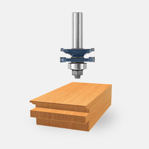 Carbide-Tipped Ogee Stile and Rail Router Bits