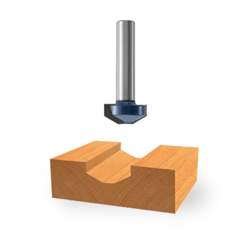 Carbide-Tipped Raised-Panel Groove Bit