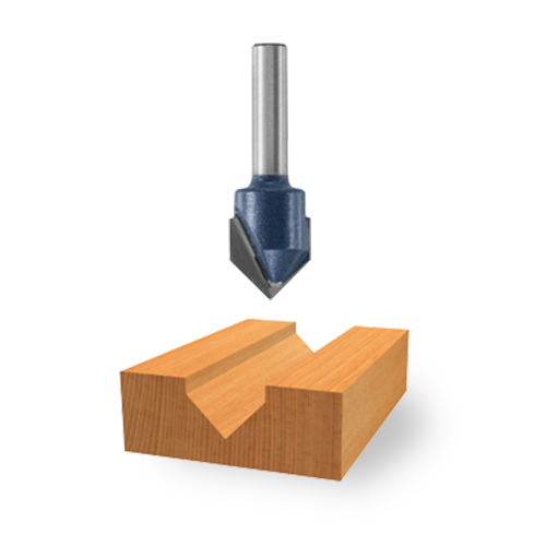 Carbide-Tipped V-Groove Bits
