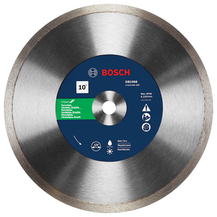 DB1066 10 In. Rapido™ Premium Continuous Rim Diamond Blade for Porcelain Tile