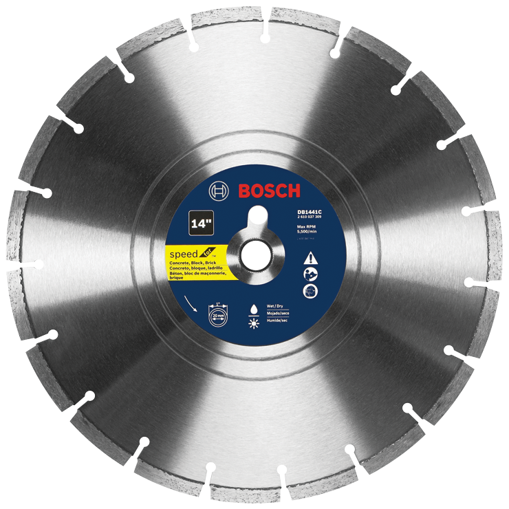 DB1441C 14 In. Premium Segmented Rim Diamond Blade for Universal Rough Cuts