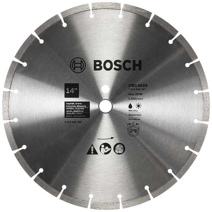 DB1465S 14 In. Standard Segmented Rim Diamond Blade for Soft Materials