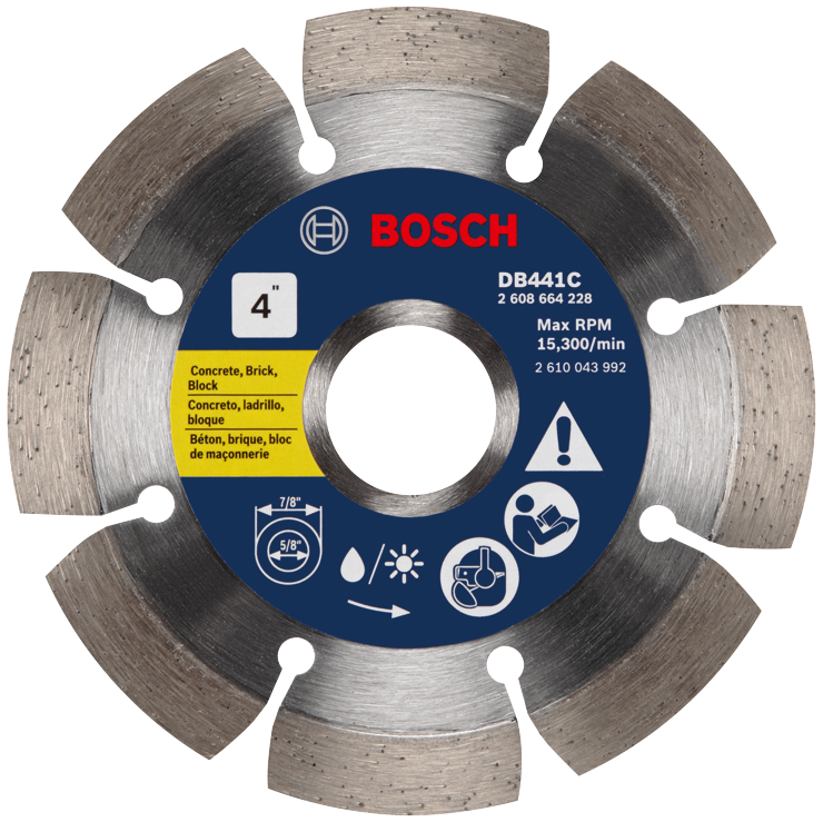 DB441C 4 In. Premium Segmented Rim Diamond Blade for Universal Rough Cuts