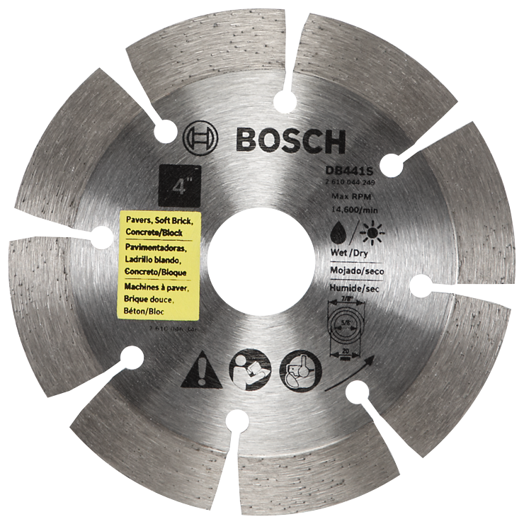 DB441S 4 In. Standard Segmented Rim Diamond Blade for Universal Rough Cuts
