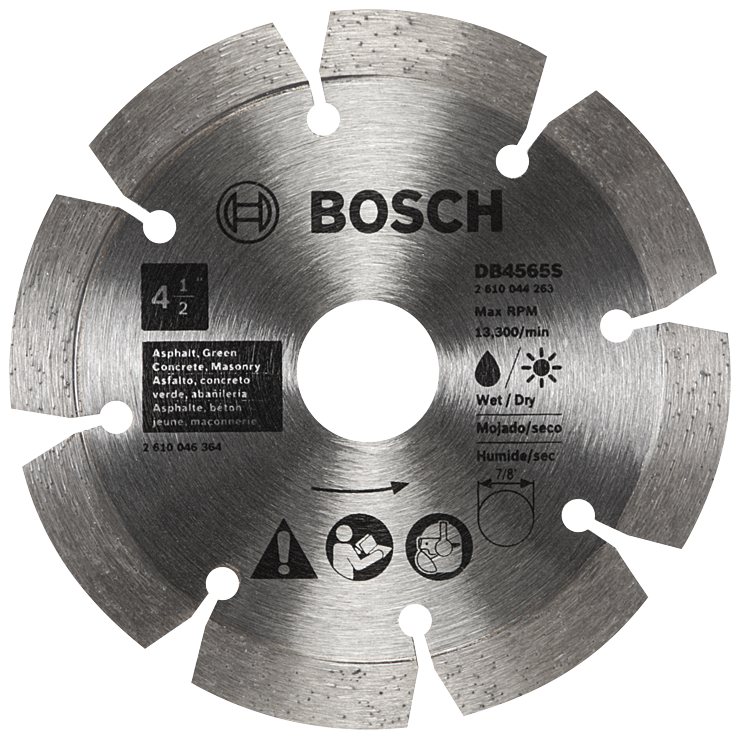 DB4565S 4-1/2 In. Standard Segmented Rim Diamond Blade for Soft Materials